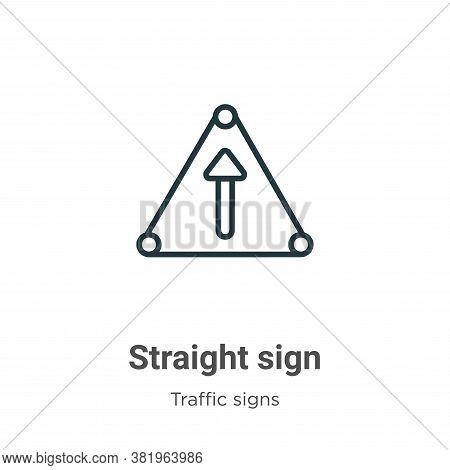 Straight sign icon isolated on white background from traffic signs collection. Straight sign icon tr