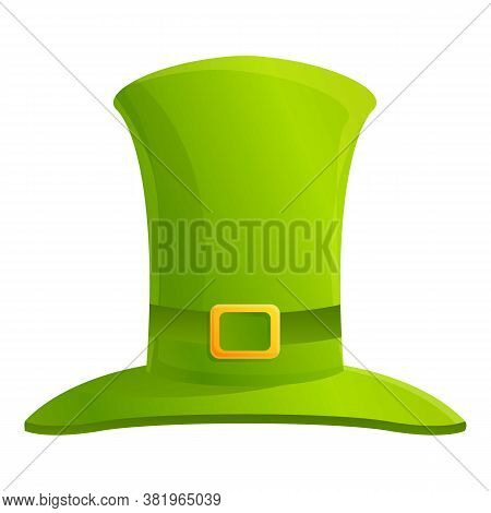 Irish Green Top Hat Icon. Cartoon Of Irish Green Top Hat Vector Icon For Web Design Isolated On Whit