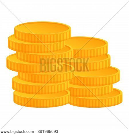 Irish Gold Coins Icon. Cartoon Of Irish Gold Coins Vector Icon For Web Design Isolated On White Back