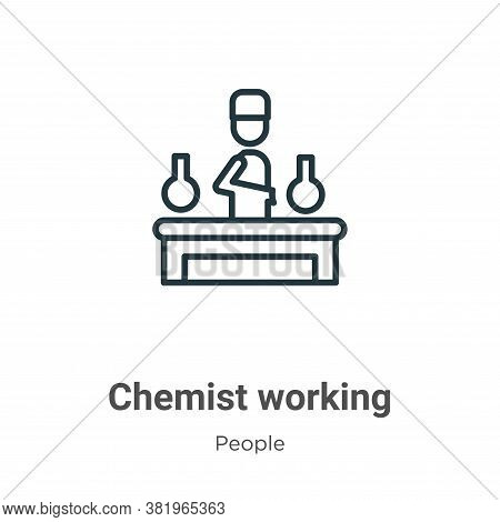Chemist working icon isolated on white background from people collection. Chemist working icon trend