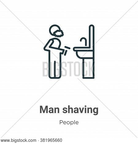 Man shaving icon isolated on white background from people collection. Man shaving icon trendy and mo
