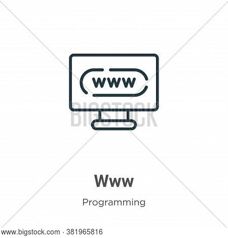 Www icon isolated on white background from programming collection. Www icon trendy and modern Www sy