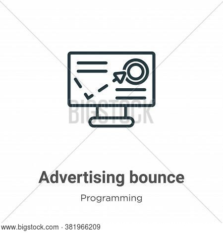 Advertising bounce icon isolated on white background from programming collection. Advertising bounce