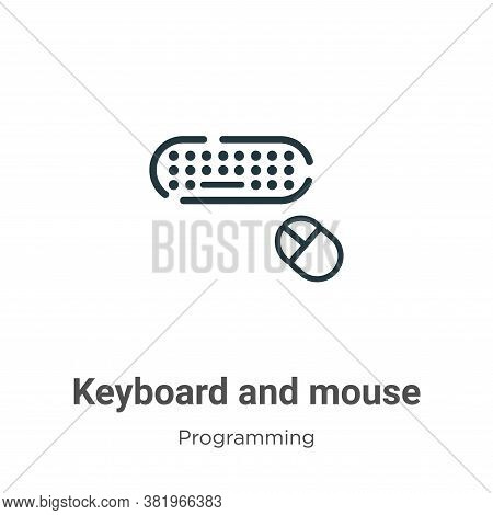 Keyboard and mouse icon isolated on white background from programming collection. Keyboard and mouse