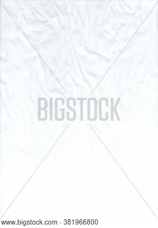 Light Dented Fabric. White Abstract Background. Light Texture Like Fabric. Canvas Texture