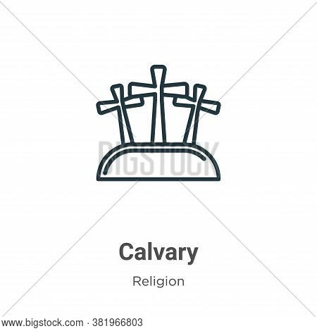 Calvary icon isolated on white background from religion collection. Calvary icon trendy and modern C