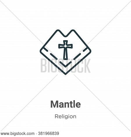 Mantle icon isolated on white background from religion collection. Mantle icon trendy and modern Man