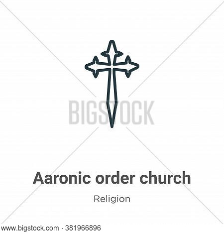Aaronic order church icon isolated on white background from religion collection. Aaronic order churc