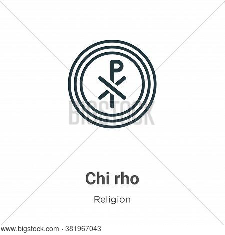 Chi rho icon isolated on white background from religion collection. Chi rho icon trendy and modern C
