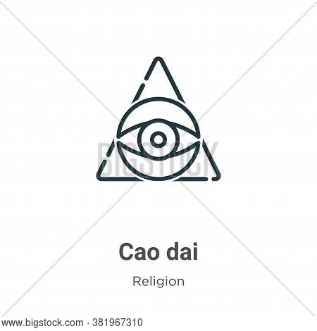 Cao Dai Icon From Religion Collection Isolated On White Background.