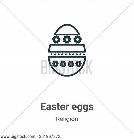 Easter eggs icon isolated on white background from religion collection. Easter eggs icon trendy and