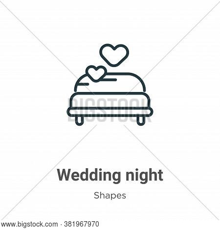 Wedding night icon isolated on white background from shapes collection. Wedding night icon trendy an