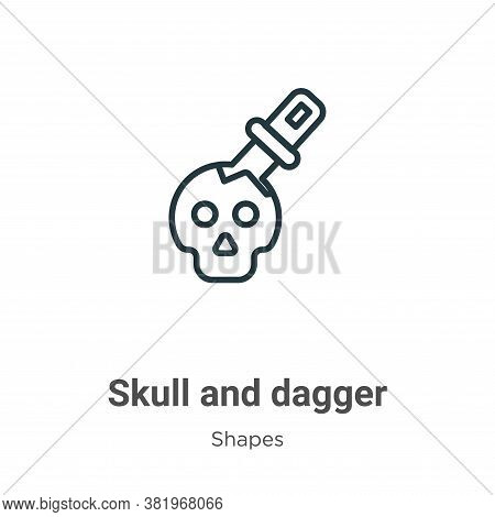 Skull And Dagger Icon From Shapes Collection Isolated On White Background.