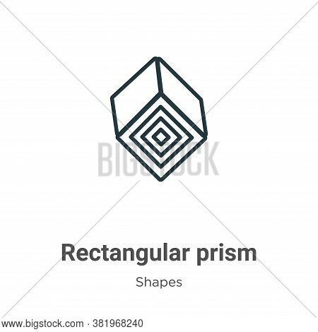 Rectangular prism icon isolated on white background from shapes collection. Rectangular prism icon t