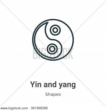 Yin and yang icon isolated on white background from shapes and symbols collection. Yin and yang icon
