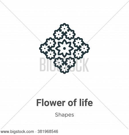 Flower of life icon isolated on white background from shapes and symbols collection. Flower of life