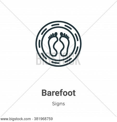 Barefoot icon isolated on white background from signs collection. Barefoot icon trendy and modern Ba