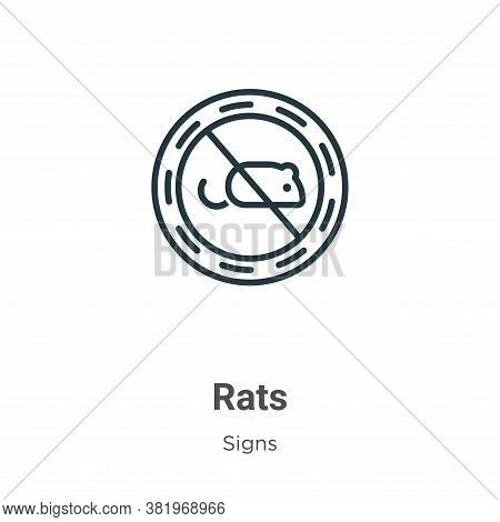 Rats icon isolated on white background from signs collection. Rats icon trendy and modern Rats symbo