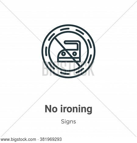 No ironing icon isolated on white background from signs collection. No ironing icon trendy and moder