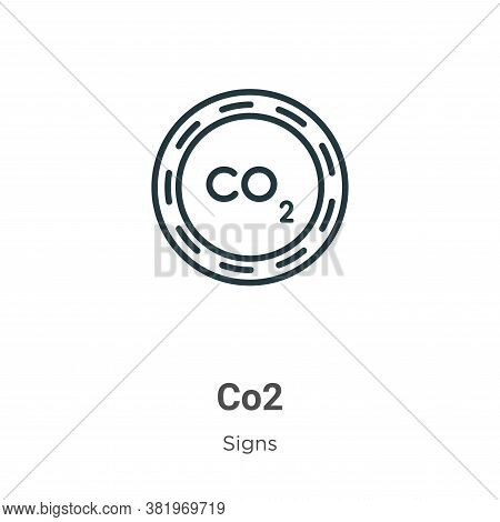 Co2 icon isolated on white background from signs collection. Co2 icon trendy and modern Co2 symbol f
