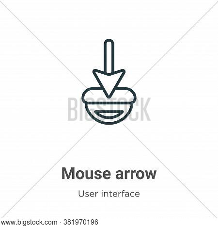 Mouse arrow icon isolated on white background from user interface collection. Mouse arrow icon trend