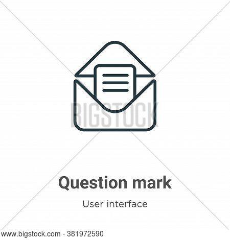 Question mark icon isolated on white background from user interface collection. Question mark icon t