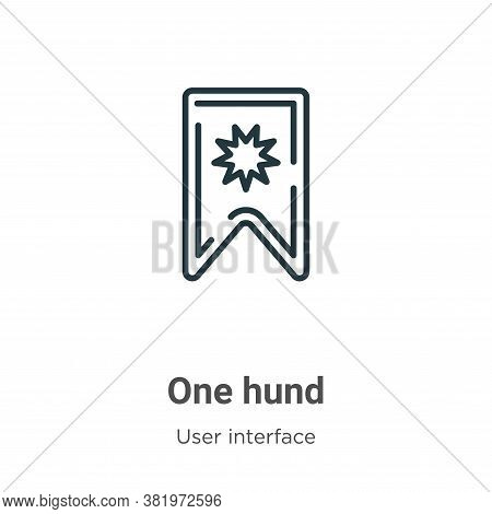 One hundred icon isolated on white background from user interface collection. One hundred icon trend