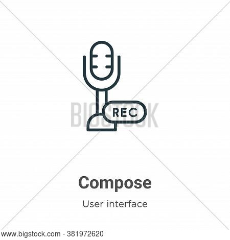 Compose icon isolated on white background from user interface collection. Compose icon trendy and mo