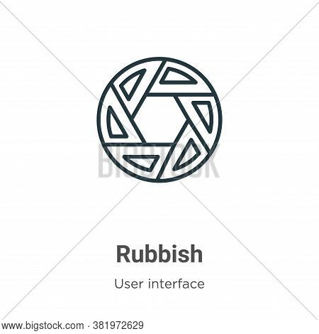 Rubbish icon isolated on white background from user interface collection. Rubbish icon trendy and mo