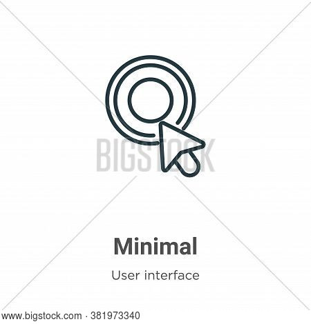 Minimal icon isolated on white background from user interface collection. Minimal icon trendy and mo