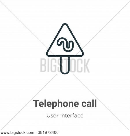 Telephone call icon isolated on white background from user interface collection. Telephone call icon