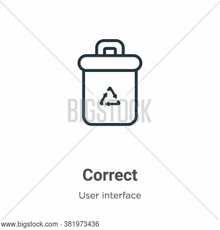Correct icon isolated on white background from user interface collection. Correct icon trendy and mo