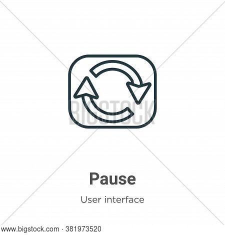 Pause icon isolated on white background from user interface collection. Pause icon trendy and modern