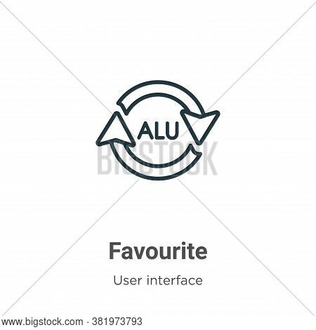 Favourite icon isolated on white background from web navigation collection. Favourite icon trendy an