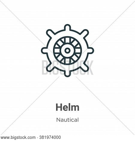 Helm icon isolated on white background from nautical collection. Helm icon trendy and modern Helm sy