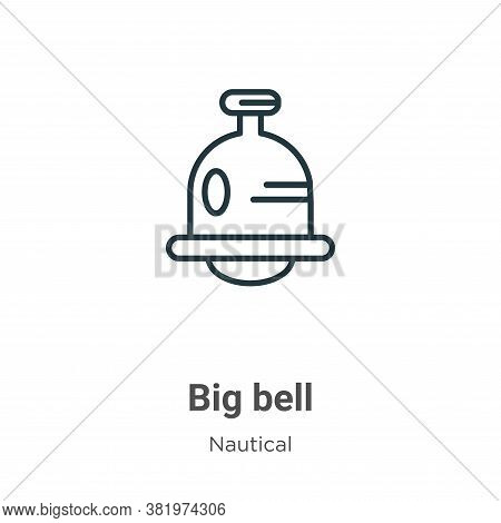 Big bell icon isolated on white background from nautical collection. Big bell icon trendy and modern