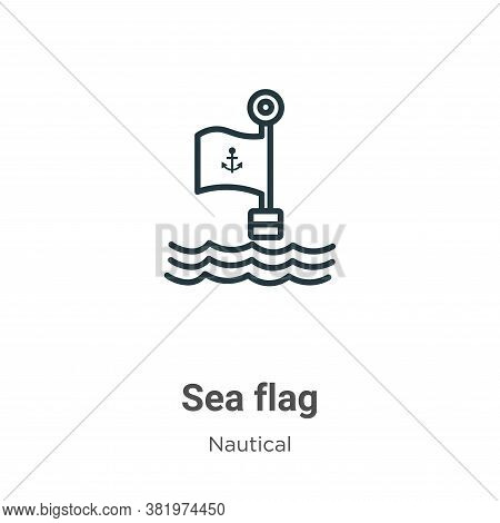 Sea flag icon isolated on white background from nautical collection. Sea flag icon trendy and modern