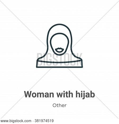 Woman With Hijab Icon From Other Collection Isolated On White Background.