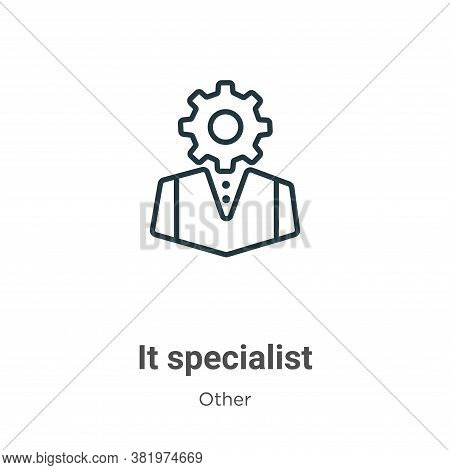 It specialist icon isolated on white background from other collection. It specialist icon trendy and