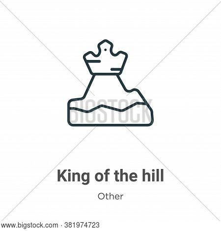 King of the hill icon isolated on white background from other collection. King of the hill icon tren