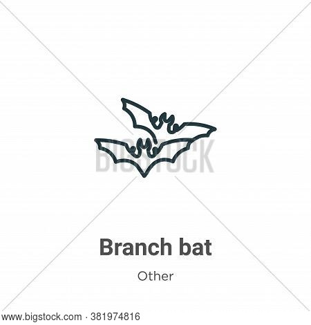 Branch bat icon isolated on white background from other collection. Branch bat icon trendy and moder