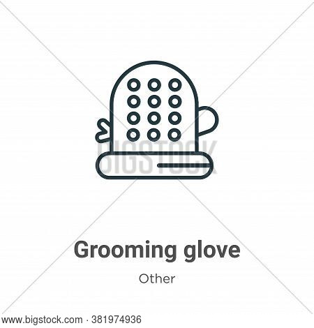 Grooming glove icon isolated on white background from other collection. Grooming glove icon trendy a