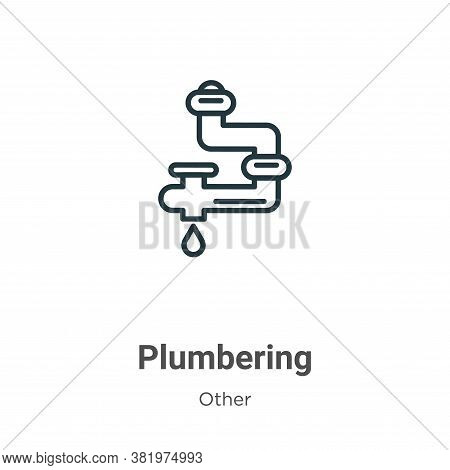 Plumbering icon isolated on white background from other collection. Plumbering icon trendy and moder