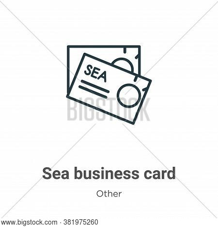 Sea business card icon isolated on white background from other collection. Sea business card icon tr