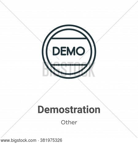 Demostration icon isolated on white background from other collection. Demostration icon trendy and m