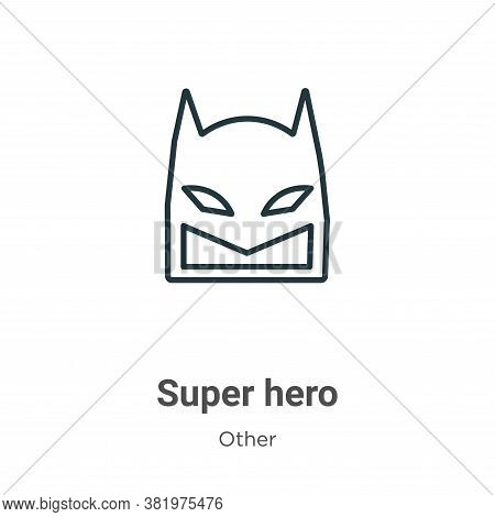 Super hero icon isolated on white background from other collection. Super hero icon trendy and moder