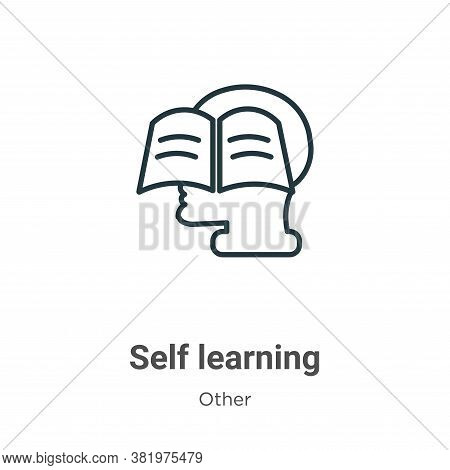 Self learning icon isolated on white background from other collection. Self learning icon trendy and