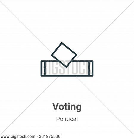 Voting icon isolated on white background from political collection. Voting icon trendy and modern Vo