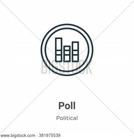 Poll Icon From Political Collection Isolated On White Background.
