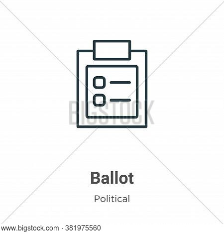Ballot Icon From Political Collection Isolated On White Background.